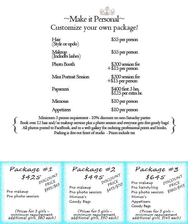 Spoiled Bachelorette Prices Packages